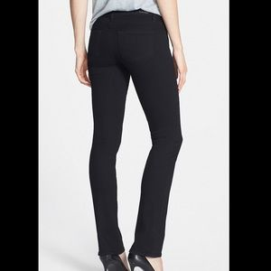 PAIGE Skyline Straight Leg Black Jeans